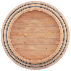 Alcohol barrel top view of isolation on a white background
