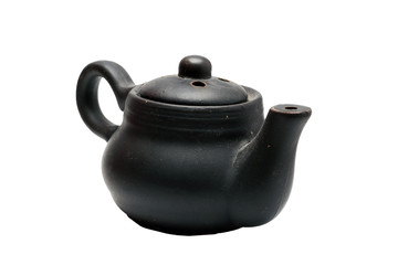 small black kettle on a white background