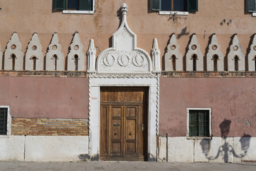 Church door in Venice