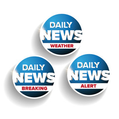 Daily news set - Weather, Breaking, Alert