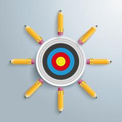 Pencils Target PiAd