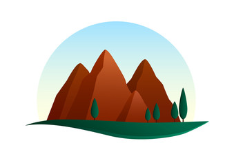 Montains illustration