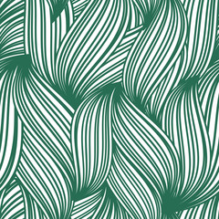 Green abstract seamless background of striped leaves