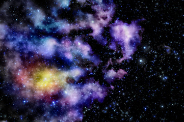 Blue and magenta nebula