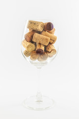 Wine Glass and Corks