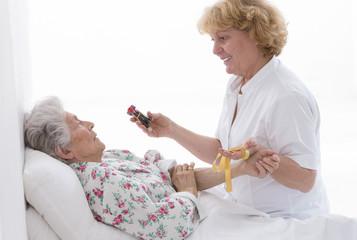 Prelevement de sang senior