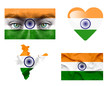 Set of various India flags