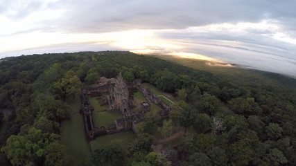 Aerial shot of Phanomrung castle Historical Park