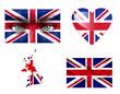 Set of various United Kingdom flags