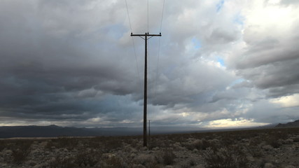 Time lapse of a Telephone Pole in the Mojave Desert.