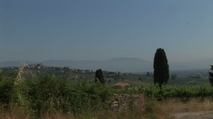 Panorama from tuscan countryside