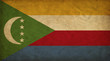Comoros grunge flag