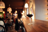 glass with red wine, tasting, restaurant - 78914435