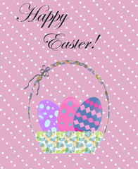 Basket with eggs for Easter