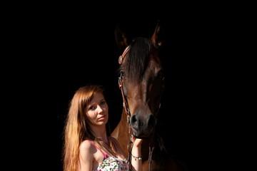 Portrait Frau und Westernpferd