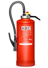 ABC Feuerlöscher isoliert vor weißen Hintergrund