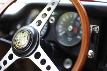 Oldtimer rotes Coupe - Interior