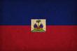 Haiti grunge flag