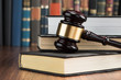 Gavel With Stack Of Books - 78915824