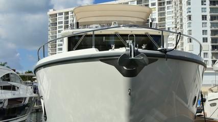Yacht bow 4k video