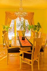 Dining room in sun light