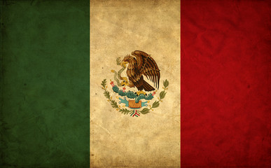 Mexico grunge flag