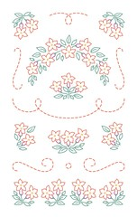 Embroidery elements - flowers