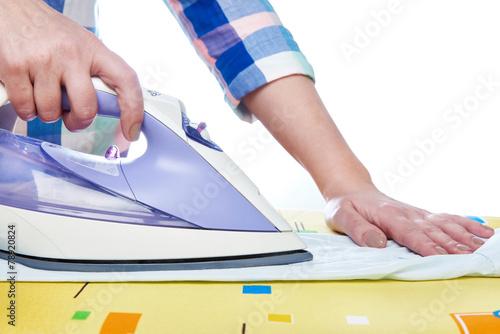 Woman ironed shirt - 78920824