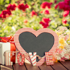 Heart shape blackboard blank