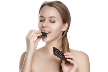 Girl with chocolate.
