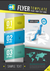 Report, document or flyer, poster template.