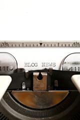 Blog news written on an old typewriter