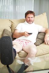 Injurecd Man at Home