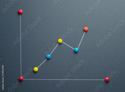 Papiers peints Macarons Growth graph concept
