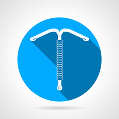IUD round flat vector icon