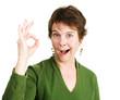 Woman Gives Enthusiastic Okay