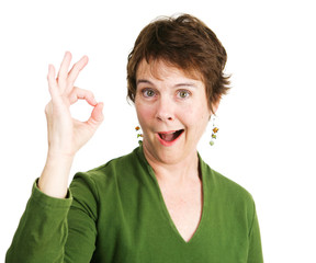 Woman Gives Enthusiastic Okay