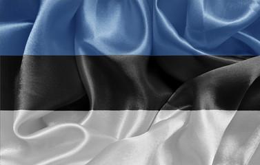 Estonian satin flag