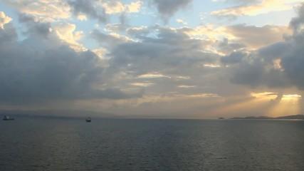 Sunrise on sea. Martinique