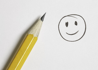 happy face drawing