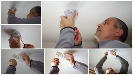 installation de détecteur de fumée