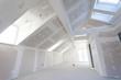 Leinwanddruck Bild - Refined Carcass Structure of a Loft