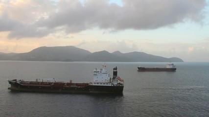 Cargo vessels on raid. Fort-de-France, Martinique