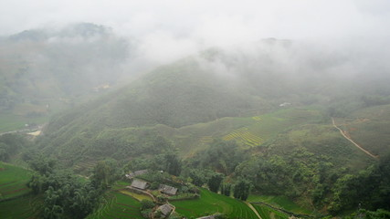 Time Lapse - Scenic Rice Terraces in the Northern Mountains of Sapa Vietnam