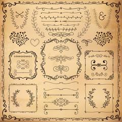 Vintage Hand Drawn Design Elements
