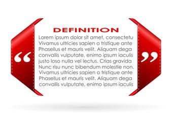 Text definition border