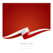 New abstract Poland flag ribbon
