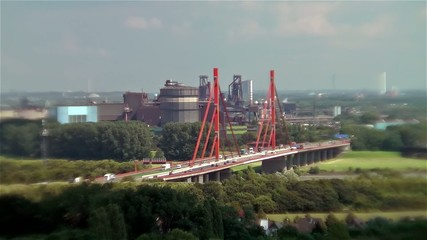 A42 Autobanbrücke über den Rhein - Duisburg