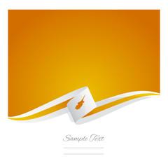 New abstract Cyprus flag ribbon