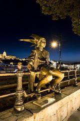 Budapest , Eulenspiegelskulptur